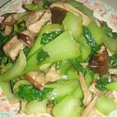 香菇炒青菜的做法