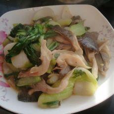 蘑菇油菜的做法