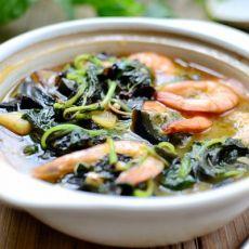 鲜虾皮蛋苋菜煲--促进儿童生长发育长寿菜