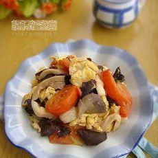 木耳蘑菇炒鸡蛋