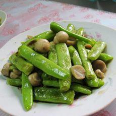蘑菇炒四季豆