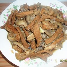 蘑菇炒肉的做法