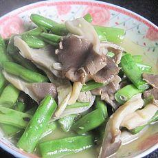 芸豆炒蘑菇