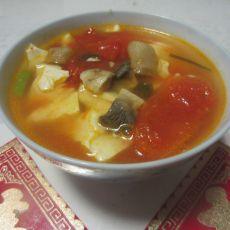番茄豆腐蘑菇汤