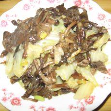 白菜炒蘑菇