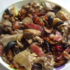 枣香枸杞蒸鸡肉