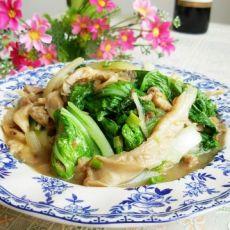 蘑菇奶白菜的做法