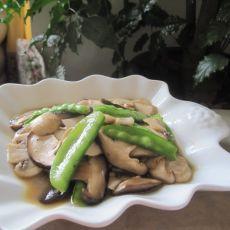 双菇炒荷兰豆