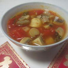 番茄鲜蘑汤