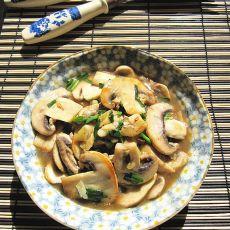 沙姜葱香蘑菇的做法