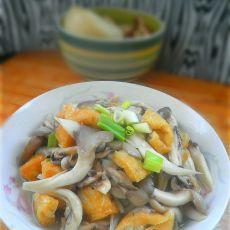 蘑菇炒豆泡