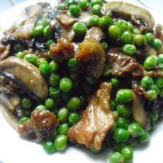 青豆蘑菇肉片的做法