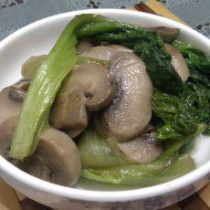 蘑菇生菜的做法