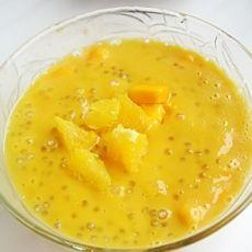 椰奶甜橙芒果西米露