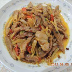 生姜炒肉的做法