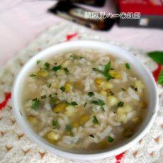 薄荷绿豆粥的做法