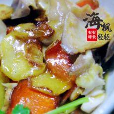猪肚炒子姜的做法