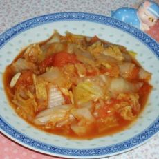 西红柿炒白菜的做法