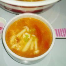番茄鸡蛋蘑菇浓汤