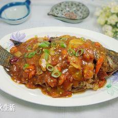 西红柿烧鱼的做法