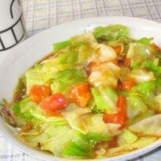 白菜炒西红柿
