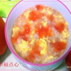 西红柿鸡蛋燕麦粥