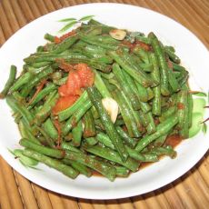 西红柿炒长豆角的做法