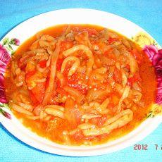 西红柿炒茄子丝