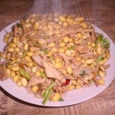 肉丝炒黄豆芽