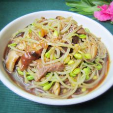 香菇炒豆芽