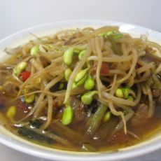 黄豆芽炒肉