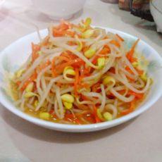 胡萝卜炒黄豆芽