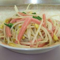 火腿丝炒黄豆芽