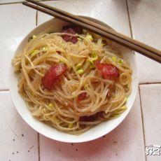 豆芽炒藕粉