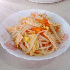 茄香腐竹炒黄豆芽