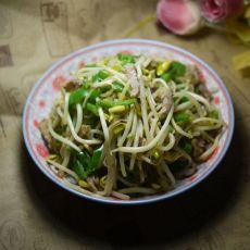 青椒肉丝炒豆芽