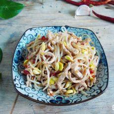 剁椒豆芽炒肉丝的做法