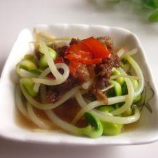 肉炒黄豆芽