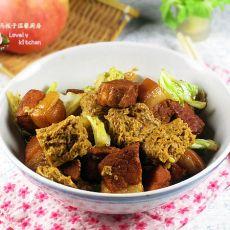 红烧肉炖冻豆腐
