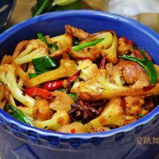 肉片干锅花菜