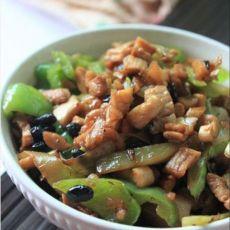 萝卜干豆豉炒肉丁的做法