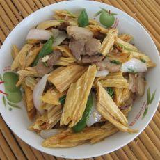 腐竹炒肉片的做法