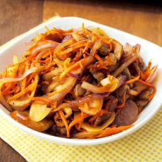 洋葱胡萝卜炒肉