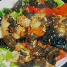 木耳炒青椒肉片