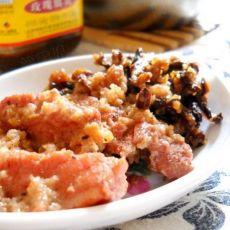 干豇豆粉蒸玫瑰腐乳肉