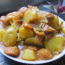 土豆白菜炖肉丸