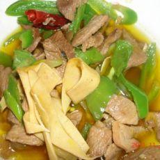 肉炒尖椒干豆腐的做法