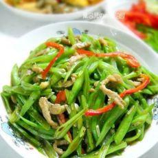 芸豆炒肉丝的做法