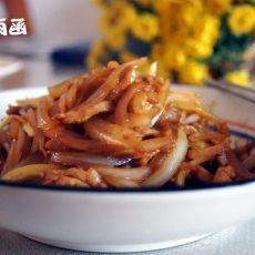 肉丝炒洋葱