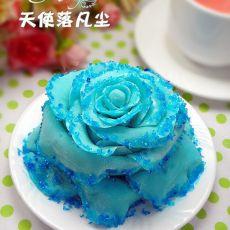 蓝色妖姬翻糖蛋糕
